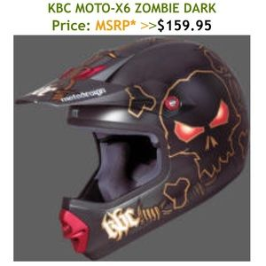 Moto-X6 Zombie Dark Youth Mx Helmet